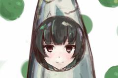 艦これ-ワンドロ-磯風-秋刀魚